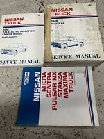 1986 Nissan Truck Midyear Service Repair Shop Manual Set W Supplement + Product