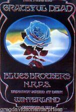 Grateful Dead 19x29 Blue Rose Winterland Poster Blues Brothers NRPS