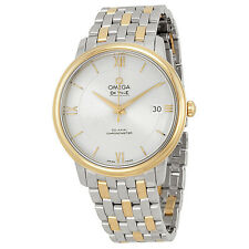 Omega DeVille Prestige Silver Dial Steel and Yellow Gold Mens Watch