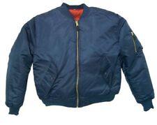 Bomber Jacket NAVY BLUE Fox Outdoor Nylon Men's Military Flight MA-1 Sz Small