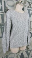 LOFT Ann Taylor Gray Pullover Cotton Sweater Women XL Crew Neck