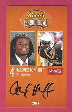MARQUESTON HUFF 2014 SENIOR BOWL WYOMING COWBOY ROOKIE SIGNED TENNESSEE TITANS B