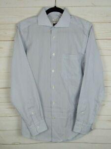 Joseph & Feiss Mens Long Sleeve Blue Stripe Button Up Dress Shirt Size 15(32/33)
