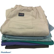Women's Medium Scrub Pants Lot of 6 Medical Nursing Multicolor Cotton Blend Flaw