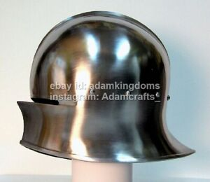 Medieval 18 Gauge Steel Sallet Helmet