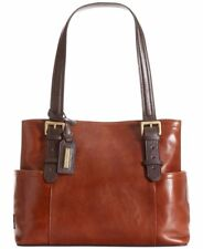 Tignanello Leather Handbag Classic Beauty Shopper Rust/Brown Vintage Purse New