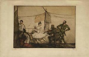 Gravure originale Armand Coussens signée - Le Cirque