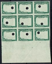 MOZAMBIQUE COMPANY 1935 AIRMAIL 30C FRAME ONLY MNH ** IMPERF PROOF BLOCK