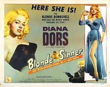 "Blonde Sinner, Lobby Card Replica 11x14"" Photo Print"