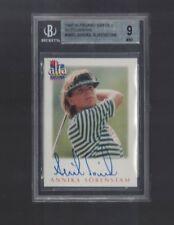 Annika Sorenstam Golf Autographed 1997 Alfa Card Sweden BGS 9 MINT 1570/2000