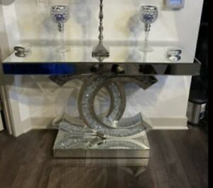 Chanel Side Table & Chanel Lamp. Excellent Pieces. Very Unique
