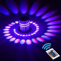 3W RGB LED Light Bulb Wall Lamp Spiral Ceiling Hallway Porch Creative Indoor