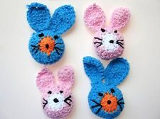 20 Hand Crochet Cute Rabbit Applique/Easter Bunny Trim/Baby/Sewing C26 Pink Only