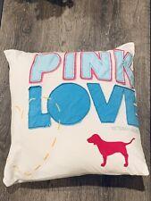 Victorias Secret Pink Dog Pup Original Throw Square Pillow