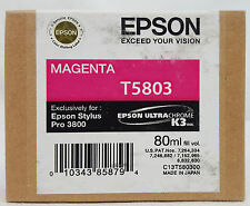 Epson Stylus Pro T5803 MAGENTA Ink Cartridge for 3800/3880 Exp 12/12 SEALED