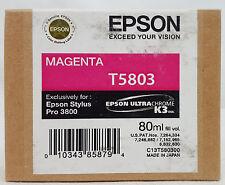 Epson Stylus Pro T5803 MAGENTA Ink Cartridge for 3800/3880 Exp 12/12 SEALED