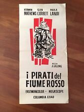 LOCANDINA,s/8  I pirati del fiume rosso,Pirates of Blood River,Hammer,Lee,Reed