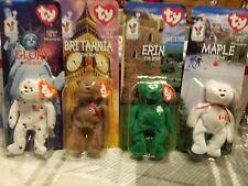 Ty beanie babies Maple/Britannia/Glory/Erin Beanie Bear Complete Set Very Rare