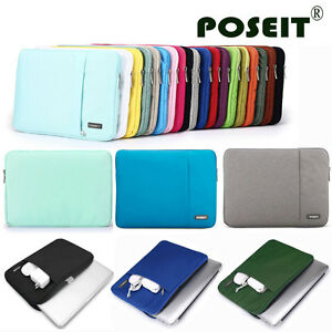 """Soft Sleeve Case Cover Pounch For 11"""" 11.6"""" 12.1"""" 12.5"""" 13.3"""" 15"""" 15.6"""" LAPTOP"""