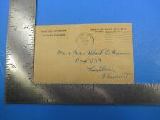 Vintage 1951 Korean War Era Armed Forces Notice Change of Address Letter S5405