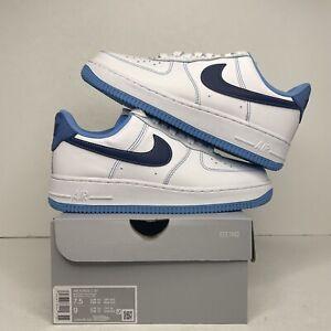 Nike Air Force 1 '07 Shoes White Deep Royal Blue DA8478-100 Men's Size 7.5 NEW