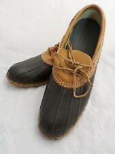LL BEAN Maine Hunting Shoe brown rubber leather winter snow loafers 12N
