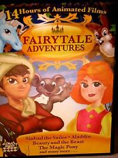Fairytale Adventures Animated 4 DVD Movies Kids Sinbad Beauty & Beast Aladdin