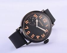 46mm Parnis Hand Winding Men's Wristwatch PVD Coated Case Casual Father BF Watch