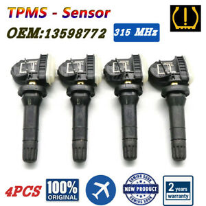 4PCS 13598772 Tire Pressure MONITORING Sensors TPMS Fit for GM Chevy GMC Buick