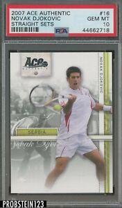 2007 Ace Authentic Tennis Straight Sets #16 Novak Djokovic PSA 10 GEM MINT