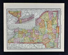 1911 McNally Map - New York - Ny City Long Island Albany Buffalo Niagara Falls