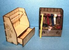 Dollhouse Miniature Engraved Sewing Shelf Kit - MAPLE - 1:12 Scale