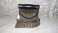 ANTIQUE CAST IRON GAS SAD IRON WOOD HANDLE EMBOSSED STAMP PAT. APR.14 1903