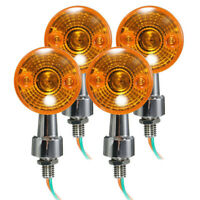 4pcs Motorcycle Turn  Signal Light Bulb Lamp 12V Amber Indicators Chrome HOT