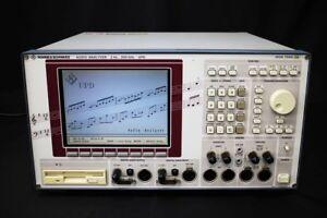 Rohde & Schwarz UPD /B1/B2/B4 Audio Analyzer Dist 0.000071%
