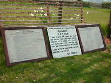 More details for three vintage railway signs lancashire & yorkshire and british railways