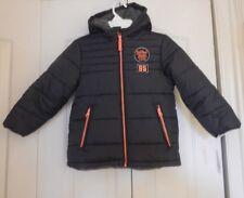 Boys 5/6 OshKosh B'gosh Fleece Lined Hooded Puffer Winter Jacket Dark Gray NWT