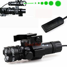 Tactical Green Laser Sight Dot Scope With Remote Pressure Switch and Gun Mount