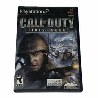 Call of Duty Finest Hour PlayStation 2 PS2 Complete w/Manual CIB Tested Works