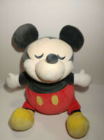 """Disney Store MICKEY MOUSE Sleeping PLUSH 23"""" Soft Pillow  LARGE Pre-owned"""