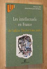 Ory / Sirinelli Les intellectuels en France de l'affaire Dreyfus à nos jours