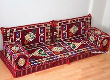 Arabic Floor Seating Sofa Oriental Burgundy cushions Turkish Bohemian Furniture