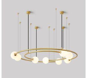LED Living room lamp Nordic ring light luxury villa office fashion Chandelier yc