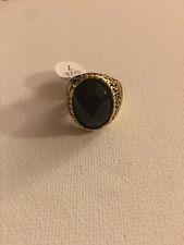Gold Retro Platinum Men Vintage Finger Ring Luxury Jewelry Size 7