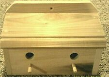 New, Unfinished Poplar ,Divided Double Wren Bird House,( Hand Made In U. S. A.)