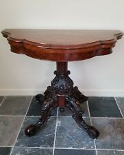 Beautiful Victorian 19th Century Antique Game / Console Table,GREAT CARVING!
