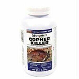 Motomco POCKET GOPHER KILLER 1 Pound Pelleted Bait Zinc Phosphide MADE IN USA