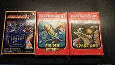 ACETRONIC juegos de video 1981-aire/mar ataque, cartuchos de guerra los invasores & Espacio