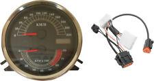 Drag Specialties KM/H speedometer speedo tach & harness for 96-98 Harley Softail