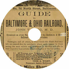 Guide to Baltimore & Ohio Railroad (1874) Railway History Book on CD
